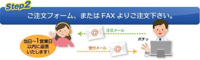 【Step.2】ご注文フォーム、またはFAXよりご注文下さい。