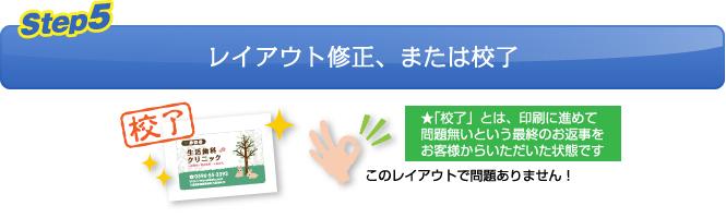 【Step.5】レイアウト修正、または校了